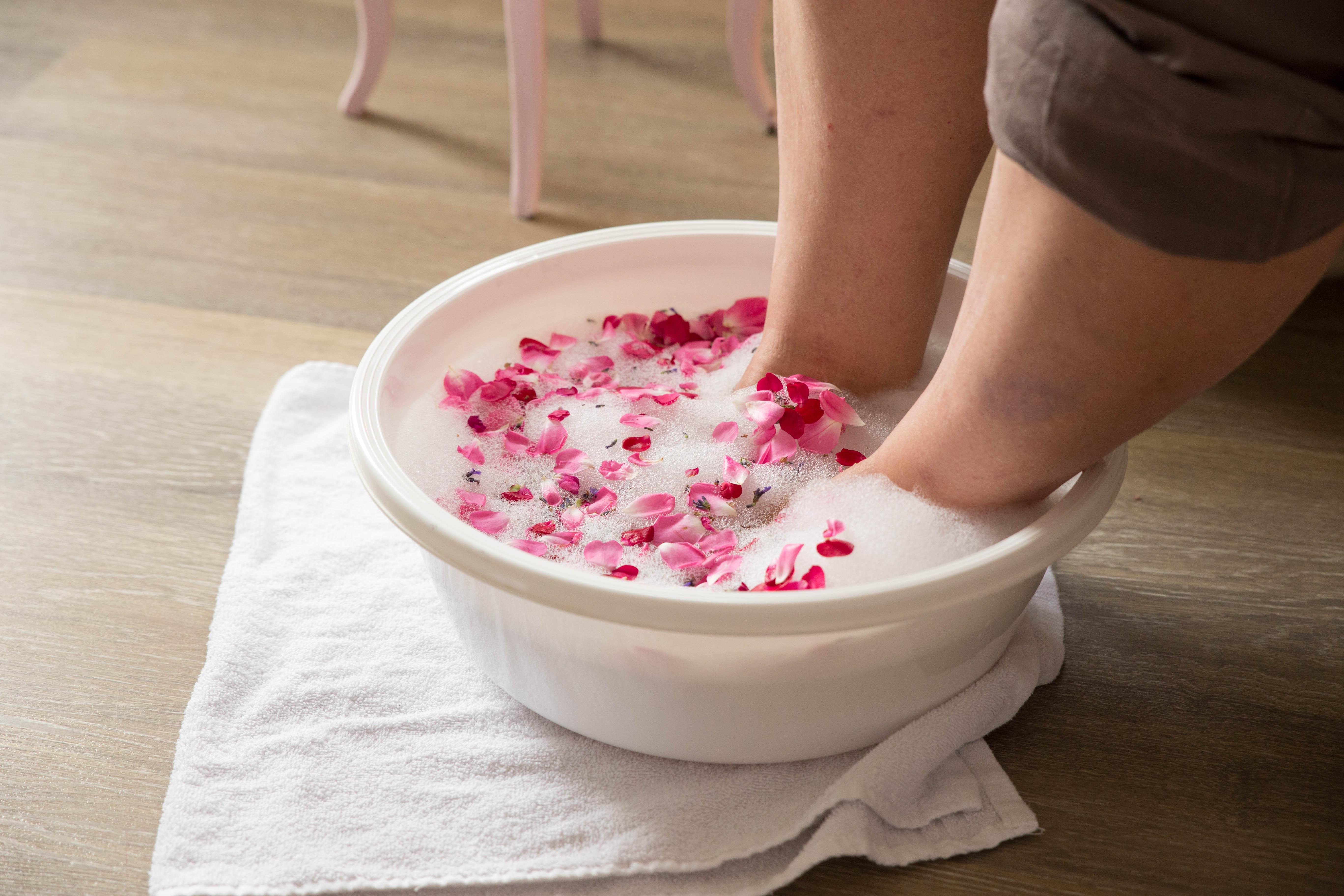 Blüten für dein Fußbad